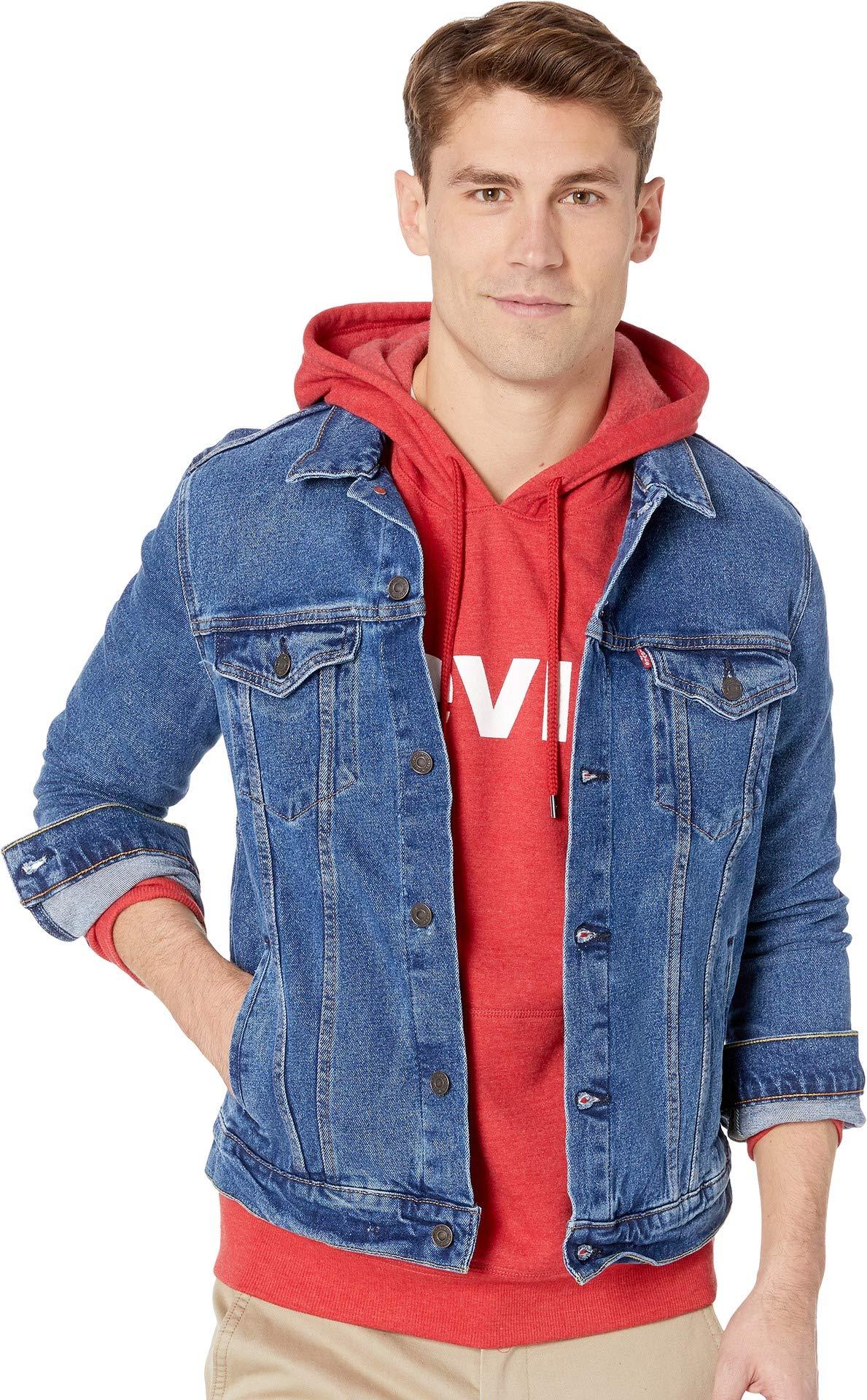Levi's Men's Original Trucker Jacket, The Hype/Stretch, M by Levi's