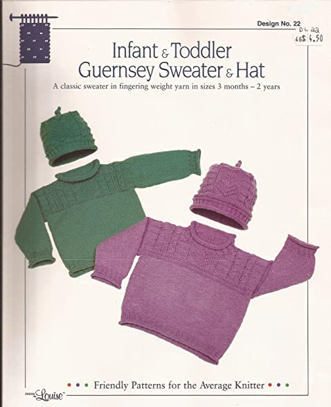 Amazon Infant Toddler Guernsey Sweater Hat Design By Louise