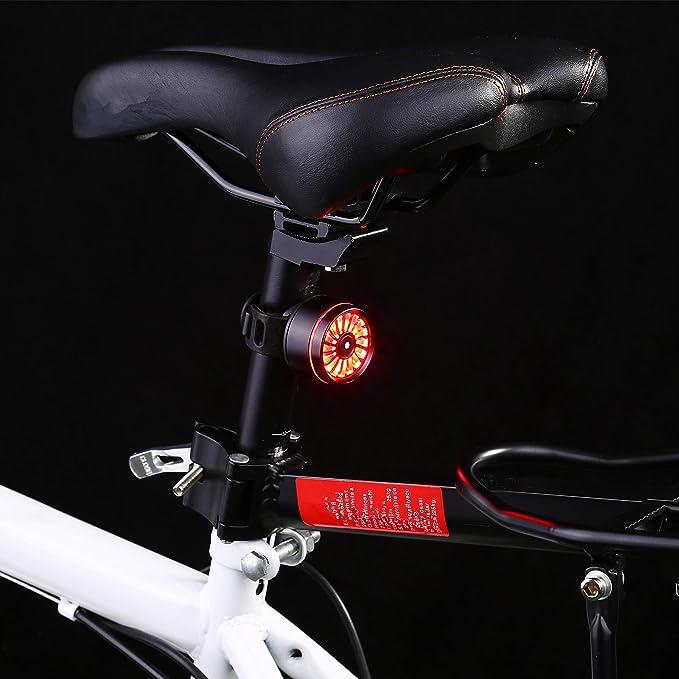 Asvert Luz Trasera de Bicicleta, LED USB Recargable, Impermeable ...