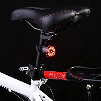 Asvert Luz Trasera de Bicicleta, LED USB Recargable, Impermeable, Advertencia, 5 Modos, luz Trasera Trasera para Bicicleta Recargable USB, Super Brillante Rojo Luz LED (Negro): Amazon.es: Deportes y aire libre