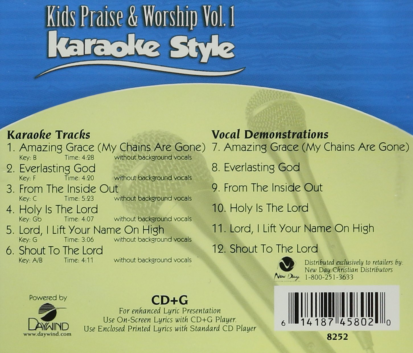 Karaoke Entertainment Well-Educated Country Love Songs Volume 3 Christian Karaoke Style New Cd+g Daywind 6 Songs