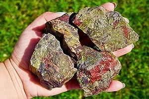 Simurg Raw Dragon Blood Stone 1lb Rough Dragon Blood Crystal Rocks for Cabbing, Tumbling, Cutting, Lapidary, Polishing, Reiki Crytsal Healing