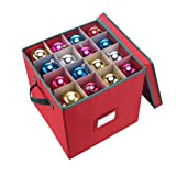 Amazon Price History for:Elf Stor Premium Red Christmas Ornament Storage Chest Holds 64 Balls w/ Dividers