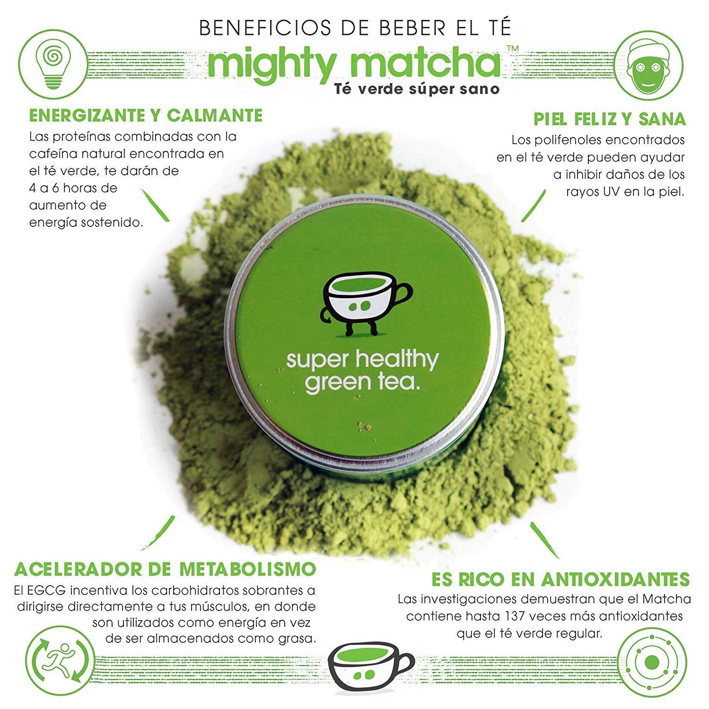 MIGHTY MATCHA Award Winning Organic Matcha Green Tea Powder - Vegan Ceremonial Matcha Green Tea Powder - Unsweetened Matcha Powder - Tin Can - Pack Of 6 x 30g