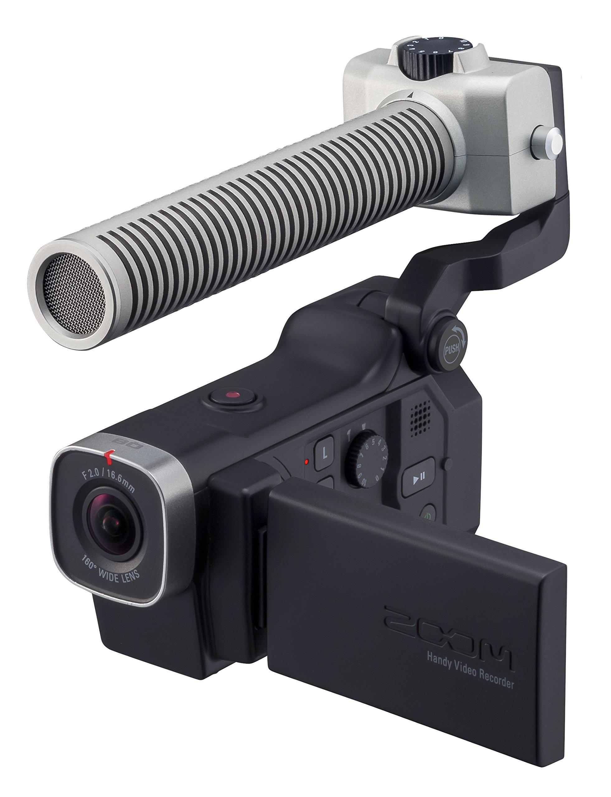 Zoom Q8 HD Video, 4‑Track Audio Recorder & SGH-6 Shotgun Microphone Capsule - Bundle