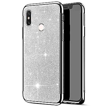 JAWSEU Case Glitter Compatible with Xiaomi Mi A2 Lite/Redmi