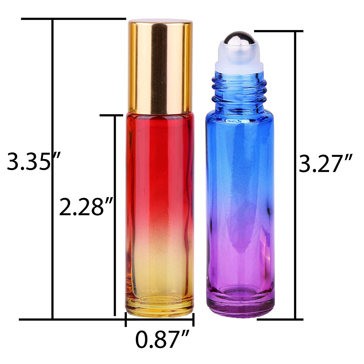 Amazon.com: INICE 24 botellas de cristal de 10 ml de espesor ...