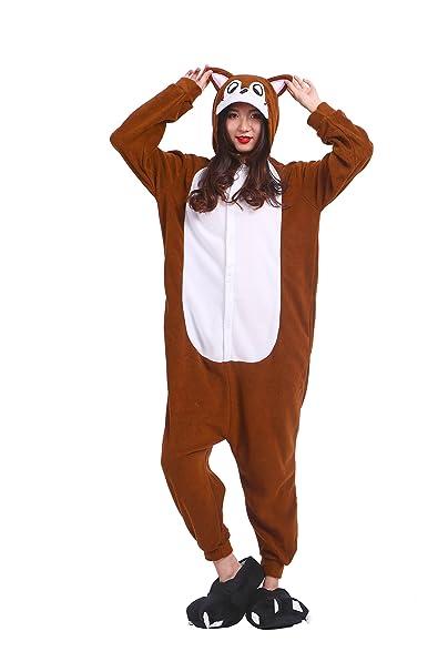 YUWELL Unisex Adulto Kigurumi Onesie Cosplay Traje Pijamas Animal Kigurumi Ropa de dormir de Halloween (Rata de la Flor) Tamaño M: Amazon.es: Ropa y ...