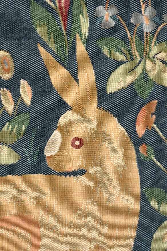 Amazon.com: Medieval conejo francés tapiz decorativo Cojín ...