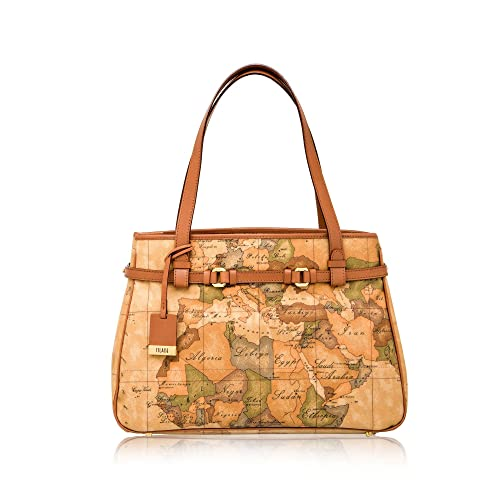 ALVIERO MARTINI PRIMA CLASSE Borsa shopping media in geo classic NATURAL  CD0316000  Amazon.it  Scarpe e borse 7041c1782ef
