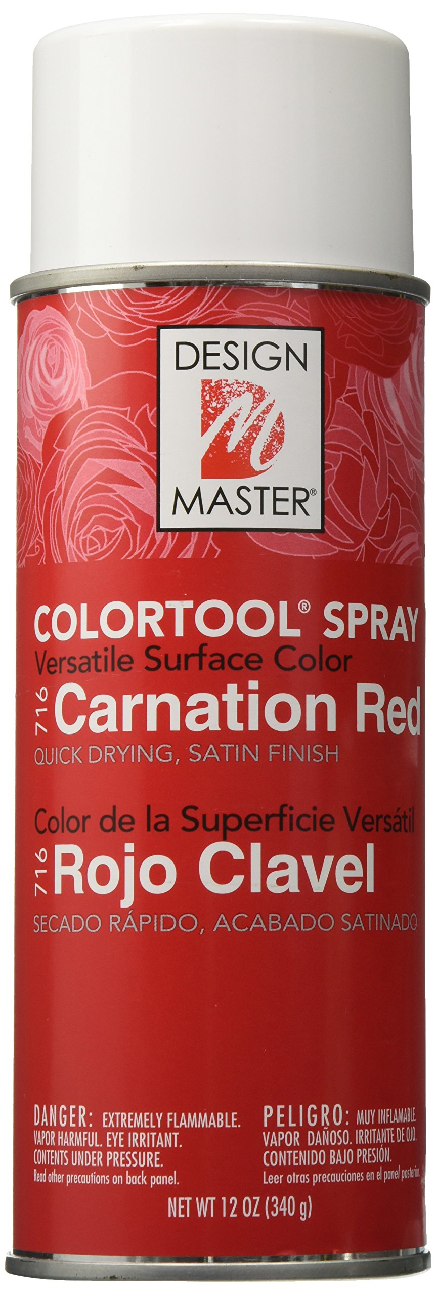 Design Master Colortool Floral Spray Paint 12 Ounces Carnation Red by Design Master