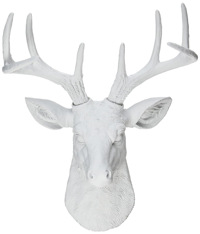 Amazon.com: White Faux Taxidermy Templeton Deer Head Wall Decor ...
