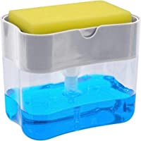 Chic Fantasy Dispensador de jabón para cocina con soporte de esponja 2 en 1 Dispensador de jabón de platos de las más…