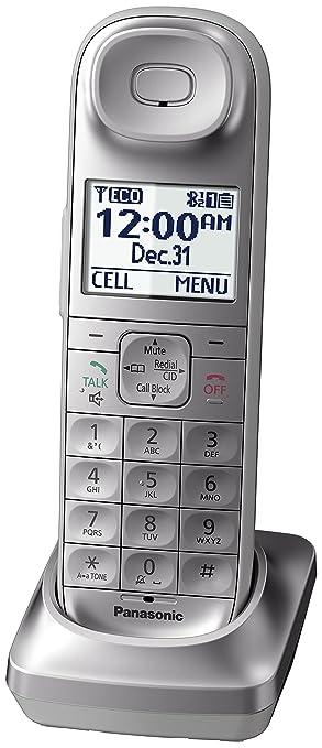 Panasonic KX-TGL463S Dect_6 0 3-Handset Landline Telephone, Silver & White