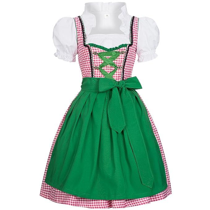 Gaudi-Leathers Dirndl Joy Traje Tradicional de Tirolesa Vestido Moda Alemana de Oktoberfest carnevale para Mujer