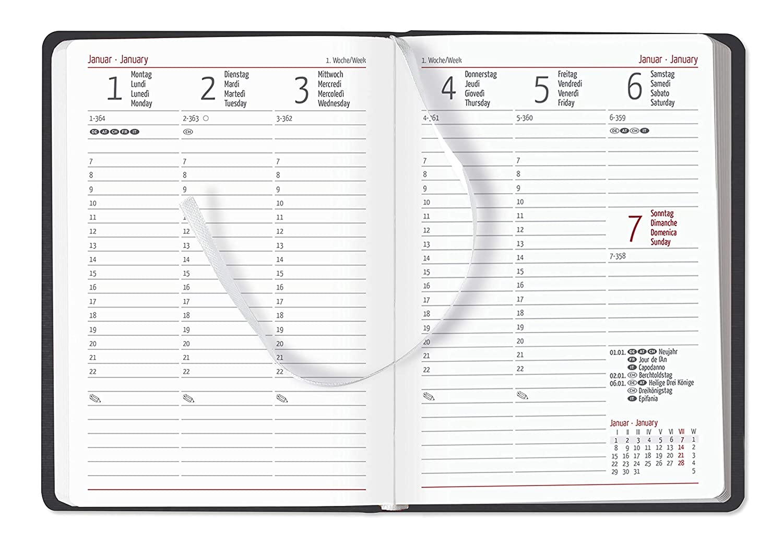 "Agenda settimanale Silk Line 2019 /""Onice/"" 10,7x15,2 cm"