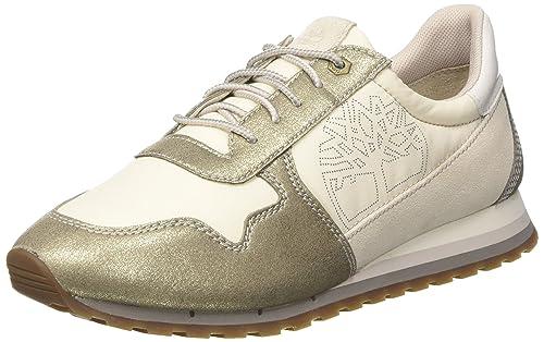 Timberland Milan Flavor, Zapatos de Cordones Oxford Para Mujer, Dorado (Gold), 41.5 EU