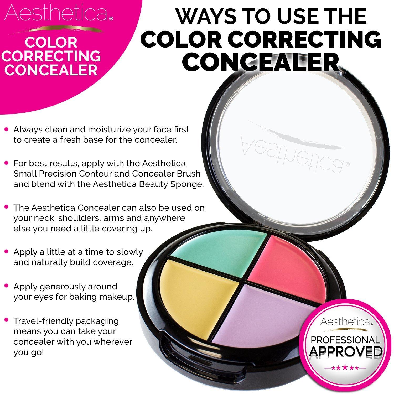 Amazon Com Aesthetica Color Correcting Cream Concealer Palette