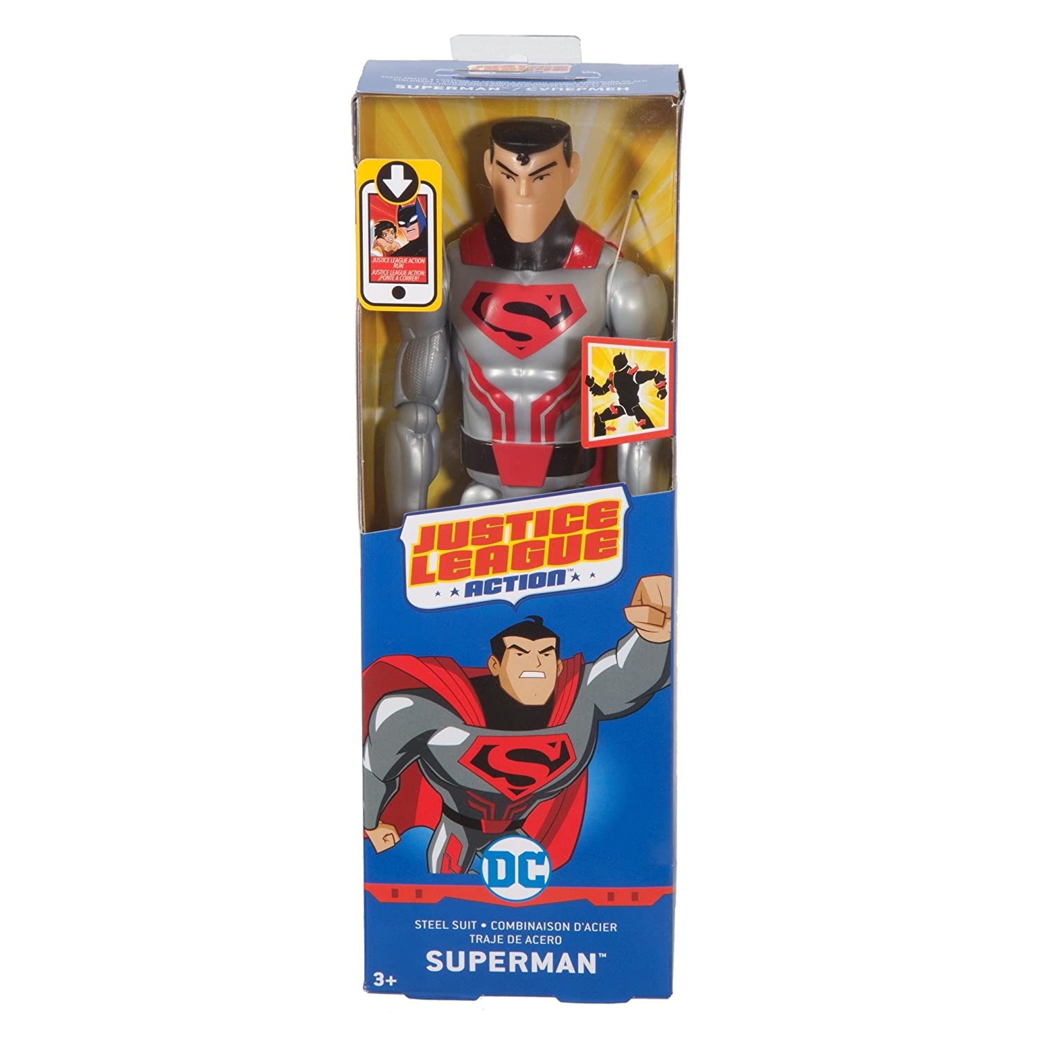 DC Comics Justice League Action Steel Suit Superman Figure