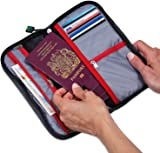 Travel Passport Wallet for Family - Zippered Pouch for Easy Access - Holds up to 6 Passports - Fully Embedded RFID Blocking Fabric