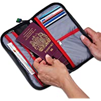MyTribeTravel Travel Wallet Organizer - Up to 6 Passports - NO Cumbersome Passport Slots