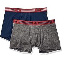 adidas Men's Athletic Stretch Trunk Underwear (2-Pack), collegiate navy/Noble maroon heather/dark grey, X-Large