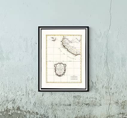 Amazon.com: 1771 Map West Africa|Cape Verde|Guinea Bissau Carte de