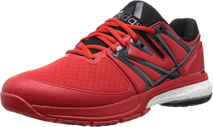 adidas Stabil Boost, Zapatillas de Balonmano para Hombre, Rojo/Negro (Rojint/Negbas/Nocmét), 44 2/3 EU: Amazon.es: Zapatos y complementos