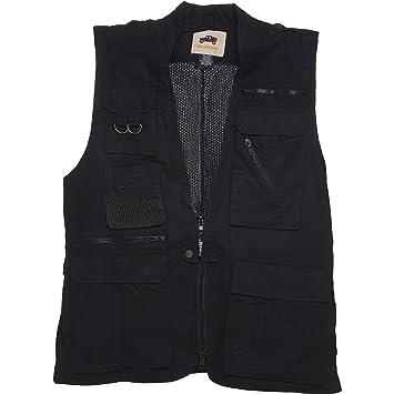 c3b233f84e2 HUMVEE Cotton Safari Vest with Extra Pockets  Amazon.ca  Sports ...
