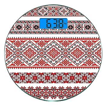 Redondo Básculas digitales de peso corporal ultradelgadas de ...