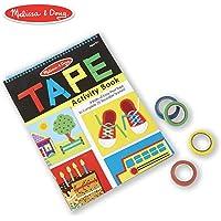 Melissa & Doug Libro de actividades con cintas, contribuye al aprendizaje temprano de habilidades, 4 rollos de cinta de rasgado fácil, resistente encuadernación en espiral, 20 páginas, 27.686 cm alto x 20.066 cm ancho x 1.143 cm largo