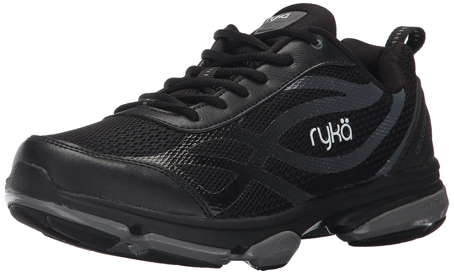 Ryka Women's Devotion XT Cross Trainer B01NB0YQON 8.5 B(M) US|Black/Meteorite/White