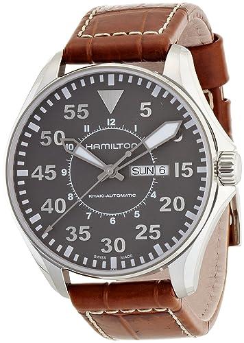 Hamilton Reloj Analogico para Hombre de Automático con Correa en Cuero H64715885: Amazon.es: Relojes