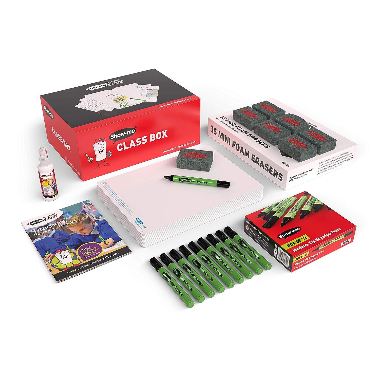 Pizarras lisas de borrado en seco A4, caja de clase: Amazon ...