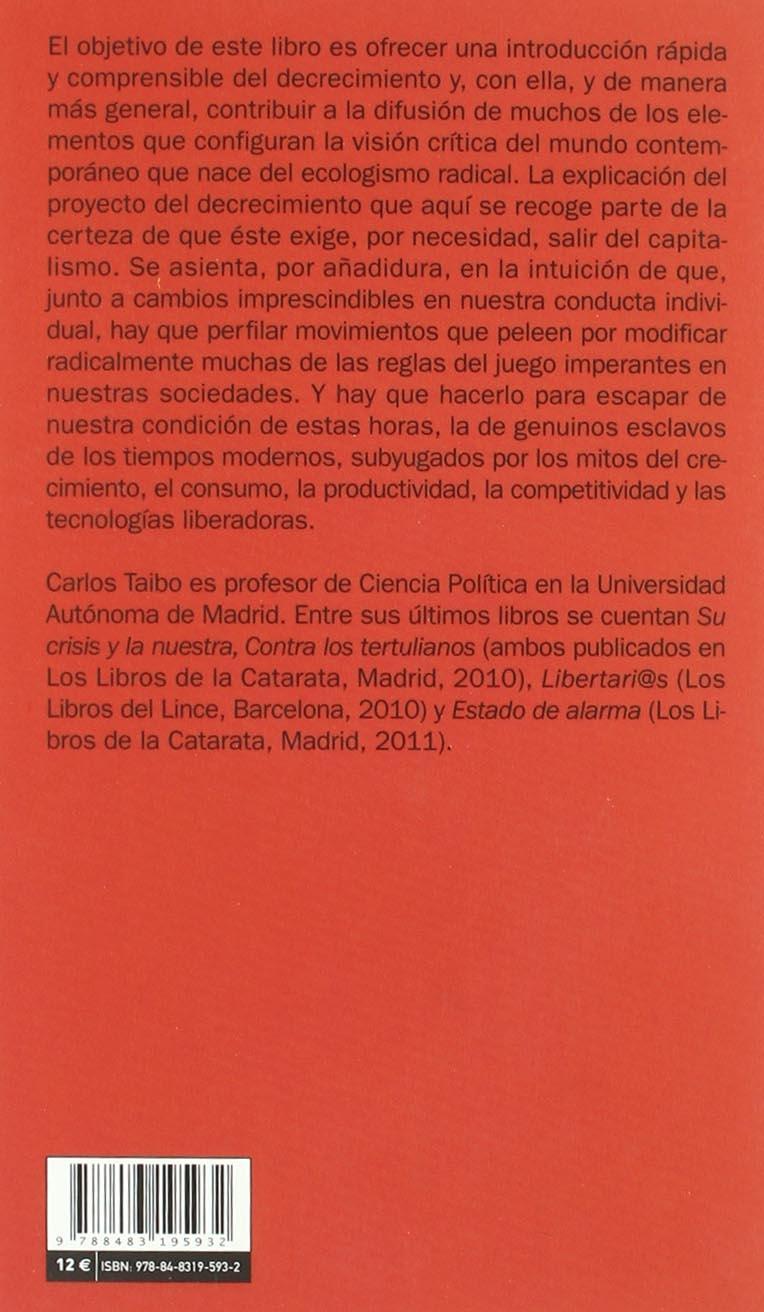 El decrecimiento explicado con sencillez: CARLOS TAIBO ...