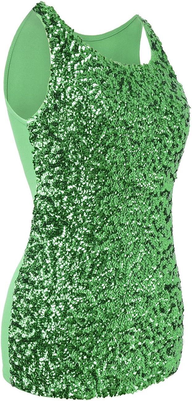 kayamiya Womens 1920S Style Glitter Sequined Vest Tank Tops