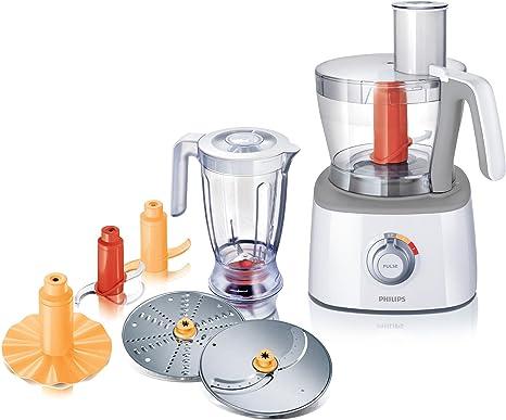 Philips HR7771/00 - Robot de cocina (3,4 L, Gris, Blanco, 1,5 L, 1,2 m, China, ABS sintéticos): Amazon.es: Hogar