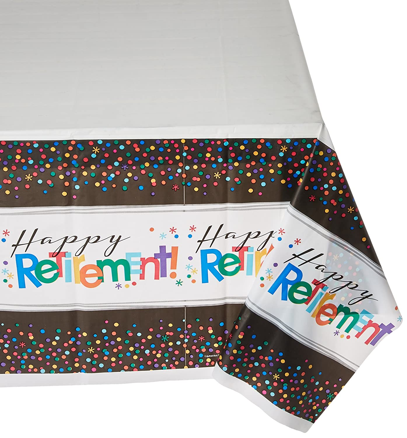 Amscan Happy Retirement Party Table Covers 54 x 102 6 Ct.