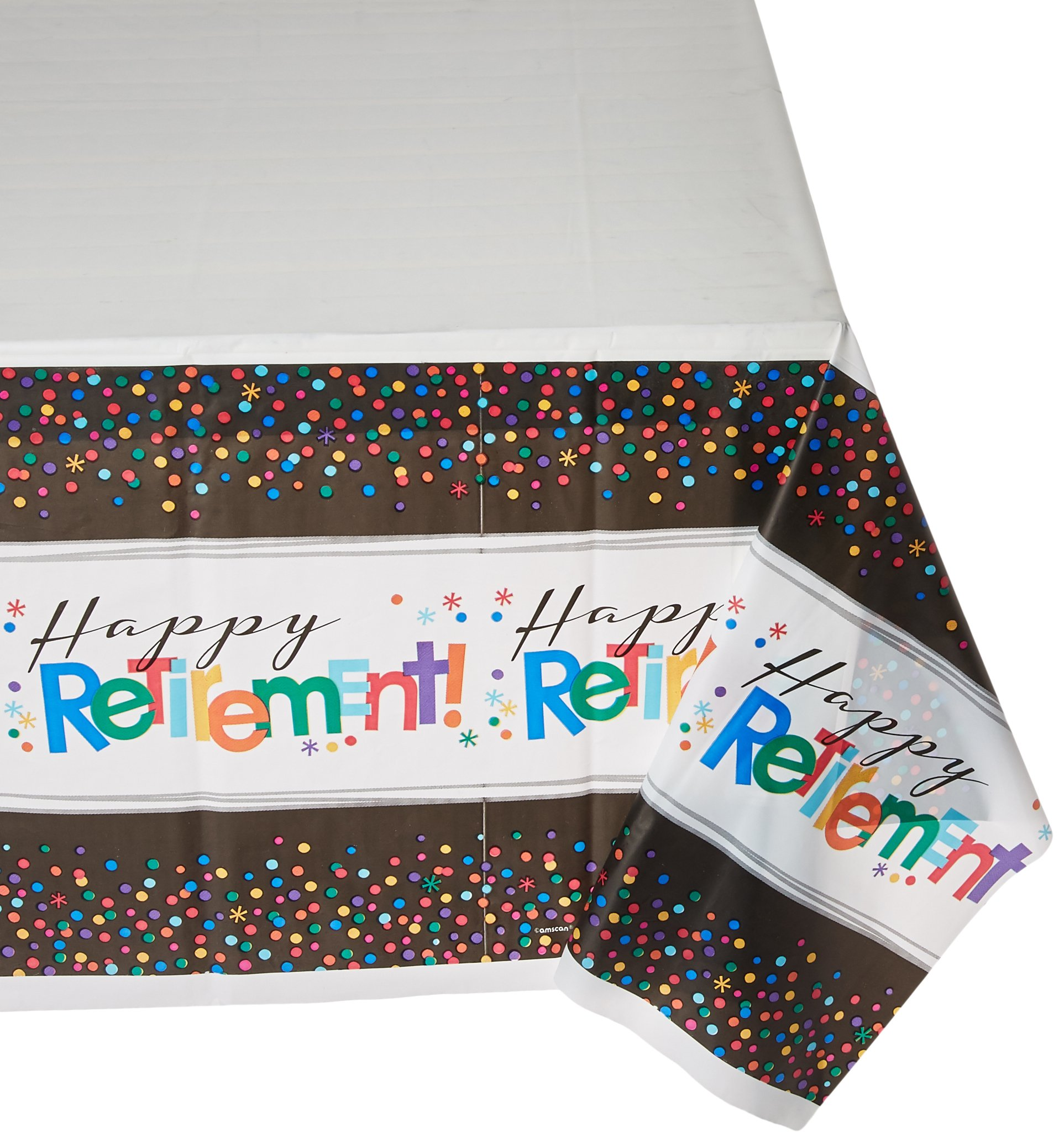 Amscan ''Happy Retirement'' Party Table Covers, 54'' x 102'', 6 Ct.