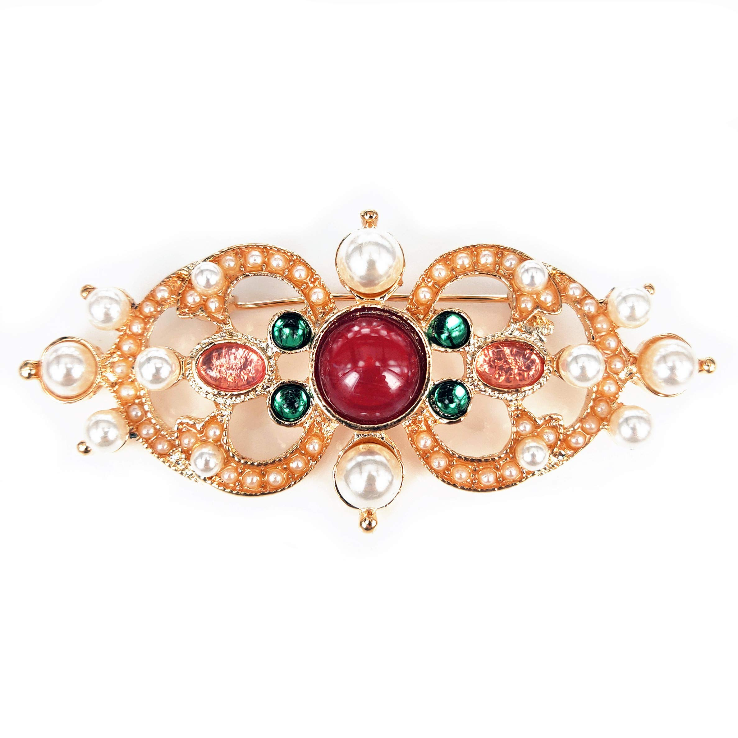 ZYJ STORE Retro Crowns and brooches are Suitable for a Variety of Costumes and Accessories