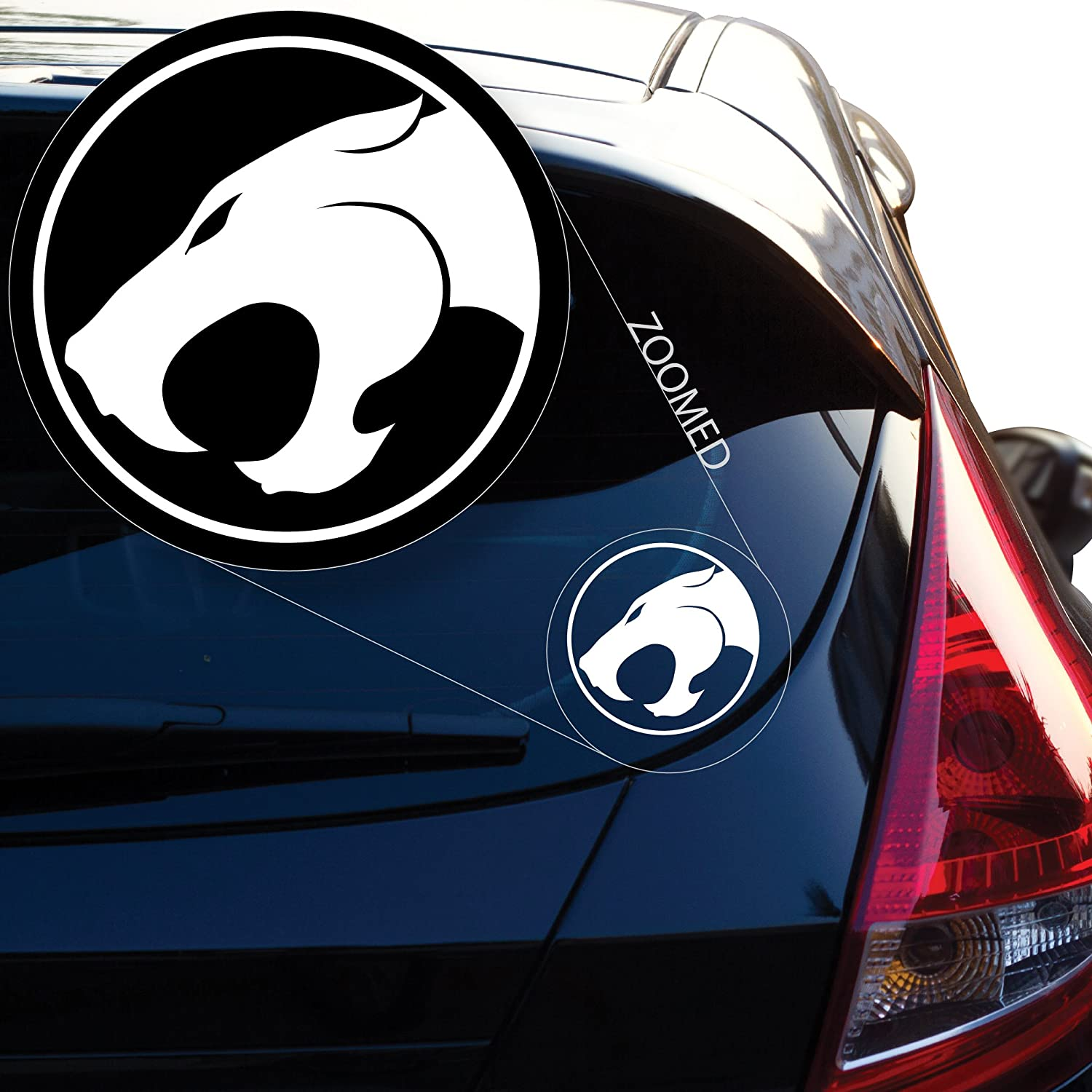 Amazon com thunder cats decal sticker for car window laptop motorcycle walls mirror and more 537 4 x 4 red automotive