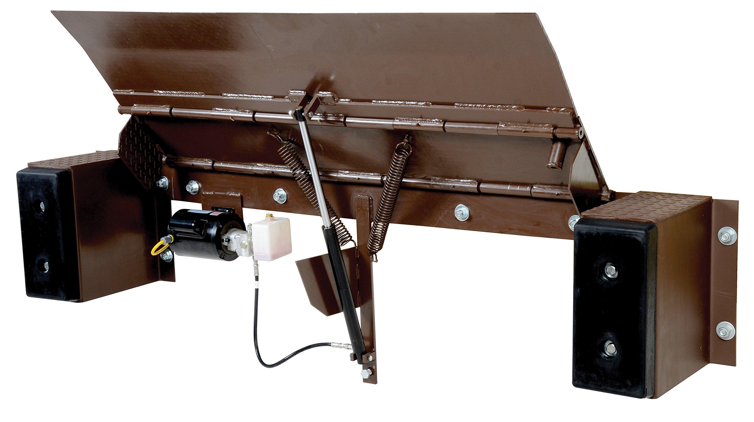 Vestil PE-2572-36 Electric Edge-O-Dock Leveler, 25000 lb. Capacity, 72'' x 36'', Brown