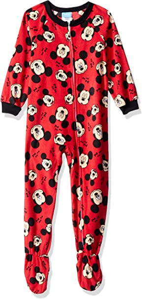 Disney Mickey Mouse Footed Sleeper Blanket Pajama Boy Size 3T 4T