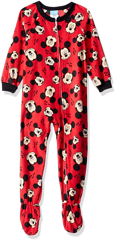 Disney Boys' Boys' Mickey Mouse Footed Blanket Sleeper 21MK200EBFDZ