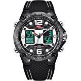 Watch,Mens Watch,Sports Outdoor Digital Chronograph Watch WIth Dual Time Display,Fashion LED Back Light Waterproof Calendar Wrist Watch