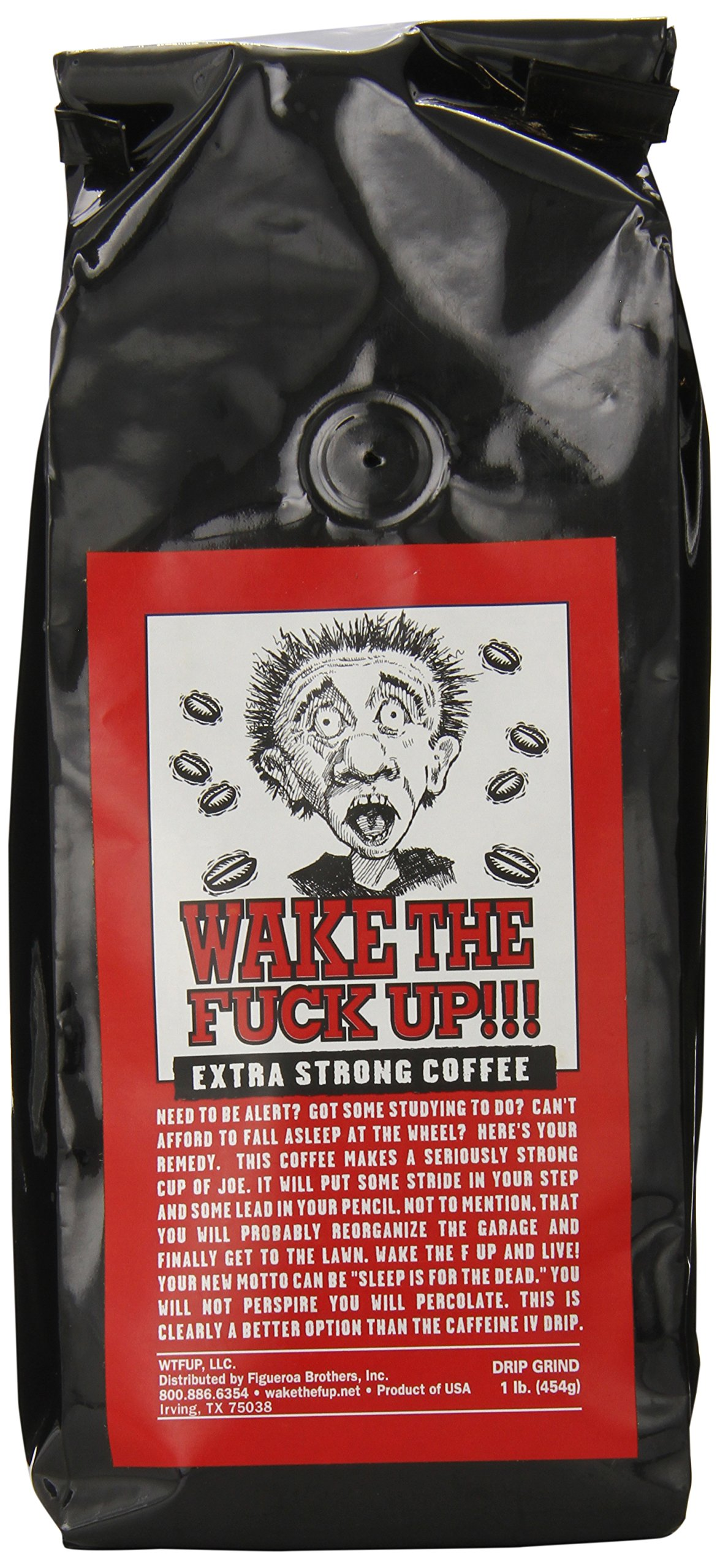 Wake the F'Up Uncensored Coffee, Original Extra Strong, 1 Pound
