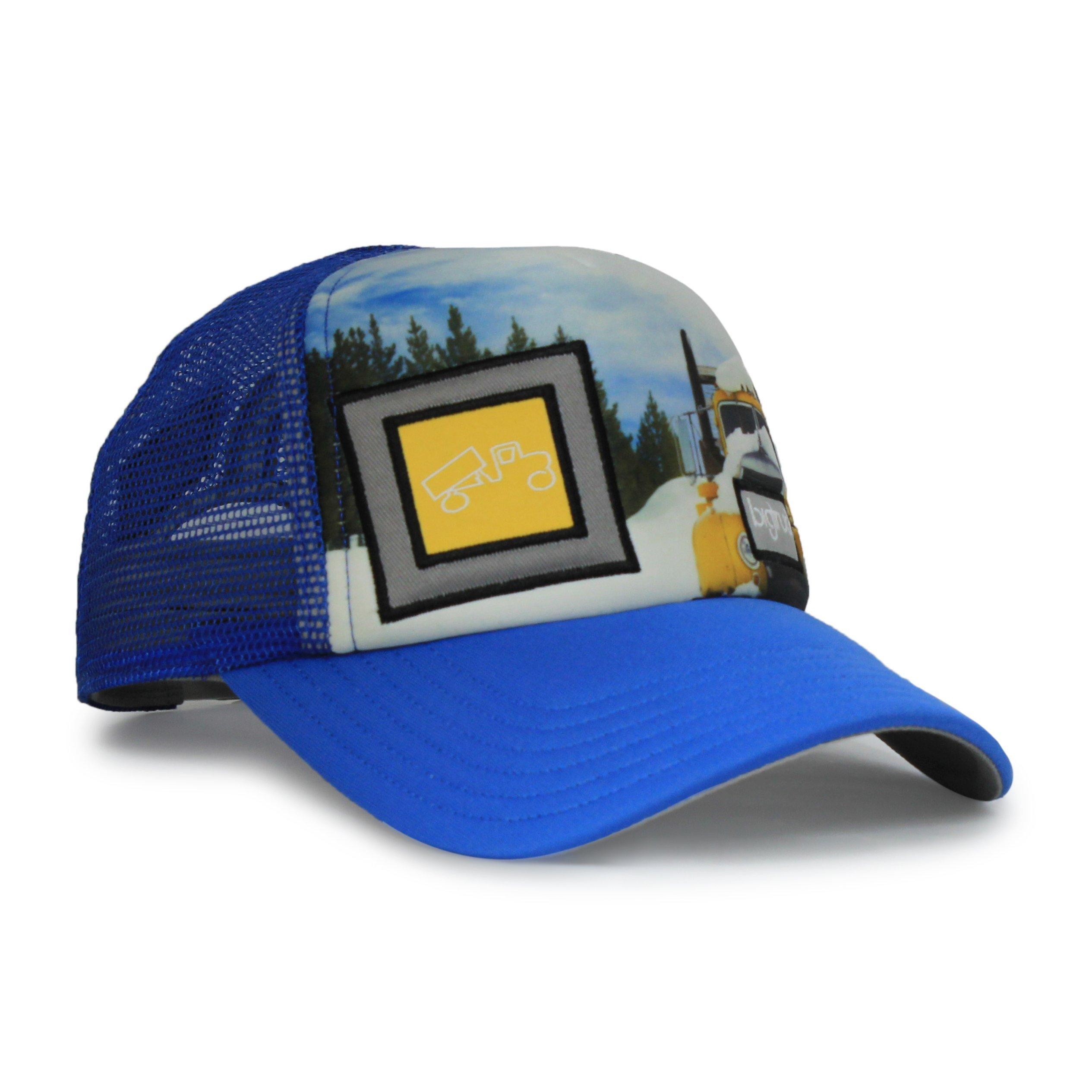 bigtruck Original Toddler Mesh Snapback Toddler Trucker Hat, Sublimated Blue