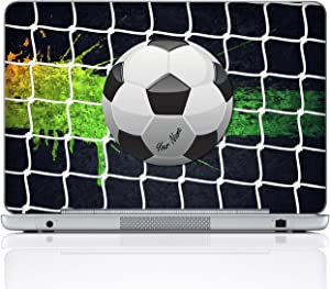 Meffort Inc Personalized Laptop Notebook Notebook Skin Sticker Cover Art Decal, Customize Your Name (14 Inch, Soccer)