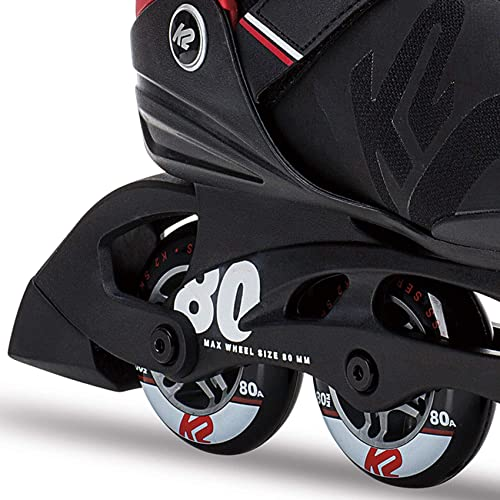 K2 Skate Men s F.I.T. 80 Pro Inline Skate, Black Red
