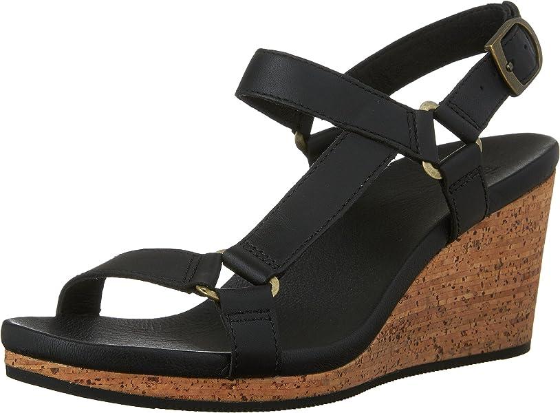 7af326e43eeb Teva womens arrabelle universal leather sandal black us platforms wedges  jpg 813x600 Teva wedge sandals gold